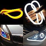 Inlink 2-Pack 60cm Auto Switchback led Streifen für Tagfahrlicht Scheinwerfer DRL Licht Weiß/Gelb