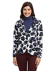 United Colors of Benetton Womens Jacket (16A3NS8E9018I90142_White and Blue)