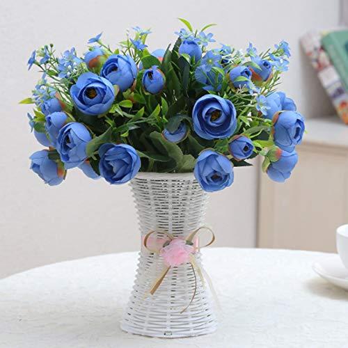 JINYANG Dekorative Blumen-Kunststoff-Blumentöpfe mittlerer Größe Blumentöpfe Mode Balkon Gartenpflanze Pflanzer Blumenvase Dekoration, Ribbon Gelegentliche Farbe