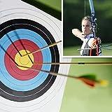 JUEYAN Zielscheibe 80 x 80 x 10 cm Schießscheibe Scheibenkasten bis 50LBS Schießkarte Bogenschießen mit 3 Auflagen + 4 Scheibennägeln