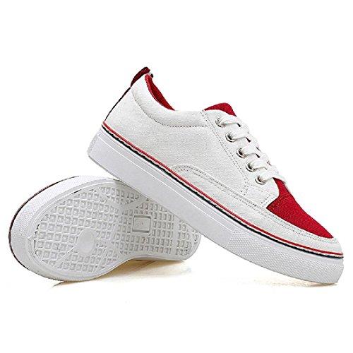Moda Scarpe sportive traspirante Tempo libero Confortevole scarpe tooling scarpe basse Red