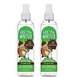 Fresh Monster Spray districante per bambini per capelli da normali a normali Noce di cocco 2 Count 8 once Noce di cocco