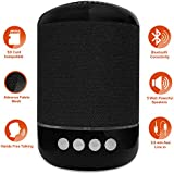 Knotyy Wireless Bluetooth Speaker With Calling, Micro SD Card, 3.5mm AUX And USB Support 5W Stereo Bluetooth Speaker - Black (BS-013)