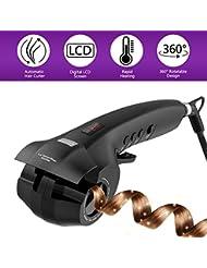 Fer à Boucler, METALBAY Boucleur Cheveux Automatique Professionnel avec Chambre de Chauffage Céramique, 3 Réglages de Temps et 3 Modes de Température, 2 Directions de Boucler, Ecran LCD