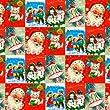Vintage Christmas Wrap X 3 Sheets Funny