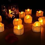 Goldbeing LED Kerzen mit Timerfunktion, LED Teelichter 24er-Pack,6 Stunden an und 18 Stunden aus,3.6 x 4.3 cm Elektrische flimmernde batteriebetriebene Kerzen (Flickering Gelb mit Timerfunktion)