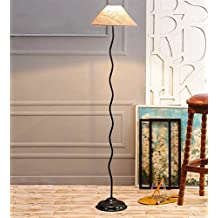 Jute & Stiffner Zig Zag Floor Lamp /Standing Lamp By New Era For Living Room /Drawing Room/Office/Bedroom/Decoration /Corner/Gift/Lobby