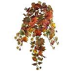 FloristryWarehouse decorazione con foglie di acero autunnali, cespuglio con strascico di 90cm in seta artificiale, foglie autunnali