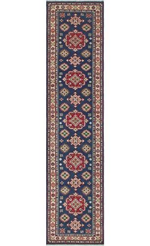 Noori Rug Teppich Nuri Handarbeit Bereich Teppich, Wolle, blau/elfenbein, 2'15,2cm X 11' 17,8cm (Teppich Bereich Elfenbein Traditionellen)