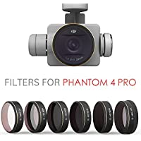 PGYTECH DJI phantom 4 Pro Accessories Lens Filters UV+ND4+ND8+ND16+ND32+CPL Filter Drone gimbal RC Quadcopter parts - Compare prices on radiocontrollers.eu
