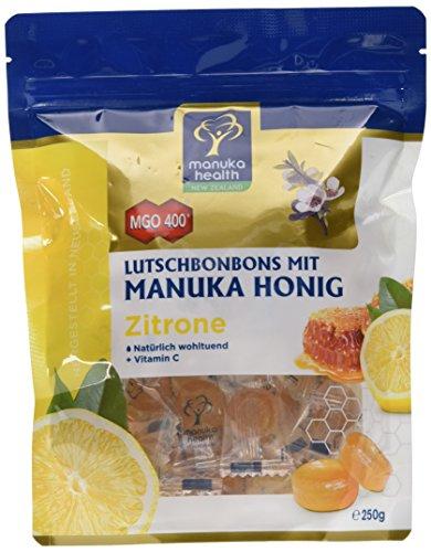 Manuka Health - MGO 400 + Zitronen Lutschbonbons 250 g - 100% Pur aus Neuseeland mit zertifiziertem...