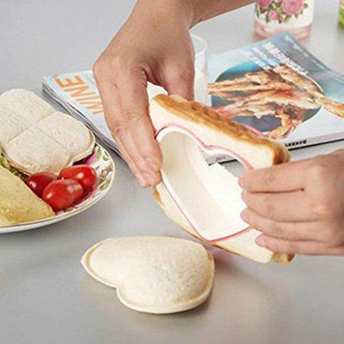 Home Frühstück (danapp Party Home Frühstück DIY Cookie Cutter Herz Form Sandwich Toast Brot Form Maker)