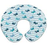 Image of 08079902350000 Chicco Almohada Boppy Enfermería con la cubierta, ballenas azules