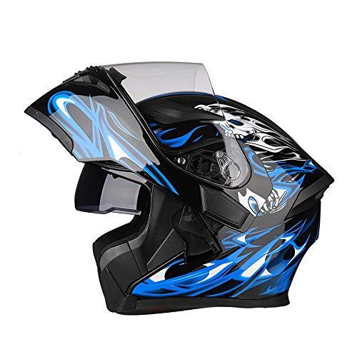 YAJAN-helmet Casco Moto Rapid Leggero Unisex Adulto, con Integrale Doppia Visiera Casco Jet Visiera Lunga Scooter Moto Omologato ECE (con/Senza Auricolare Bluetooth)
