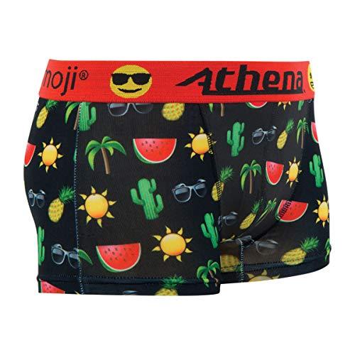 ATHENA Emoji Watermelon Lustige Herren Boxershort Unterhose Motiv im Emoji Look mit hohem Geschenkidee, Scherzartikel zu Weihnachten oder Geburtstag (M)