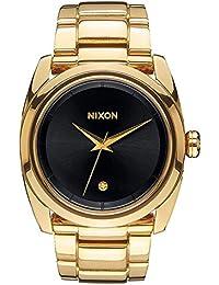 Nixon Damen-Armbanduhr Queenpin Analog Quarz Edelstahl A935510-00