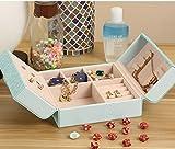 Ailina-Joyero-de-piel-caja-de-almacenaje-porttil-vitrina-de-exhibicin-de-joyas-organizador-para-collares-anillos-pendientes-pulseras-y-otros-abalorios-con-decorativa-de-mariposa-en-color-de-moda