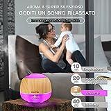 Innoo Tech Aroma Diffuser 500ml Öl Luftbefeuchter Ultraschall Humidifier Holzmaserung LED mit 7 Farben für Babies Kinderzimmer, Auto, Wohnzimmer, Schlafzimmer, Büro, Yoga, Spa, Raum usw - 4