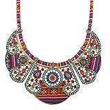 QIYUN.Z Joyería Étnica Bohemia De La Declaración del Collar del Collar De La Vendimia De Las Señoras