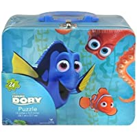 Finding Dory Large Lunch Tin Box with 24pc puzzle inside by Cardinal Industries