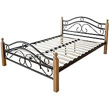 Bett 140x200 Holz Metall