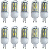 Aoxdi 10X G9 8W LED Light Bulbs, Warm White, 56 SMD 5730 G9 LED Corn Bulb Lamp, 360 Degree Beam Angle, AC 220-240V