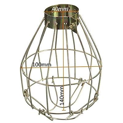 elegantstunning hängende industrielle Eisen Lampenschirm Anhänger Dekor für Haus Bar Metall Lampe Birne Guard Clamp Vintage Lightschirm von elegantstunning - Outdoor Shop