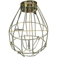 Lanlan lampadario industriale Covers ciondolo Decor for home bar morsetto lampada lampadina guardia in metallo vintage luce gabbia