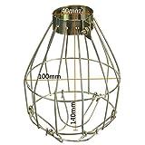Lanlan Aufhängen Industrie umfasst die Anhänger Decor für Home Bar Metall Lampe Lampe Guard Klemme Vintage Light Käfig