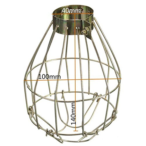 Lanlan Aufhängen Industrie umfasst die Anhänger Decor für Home Bar Metall Lampe Lampe Guard Klemme Vintage Light Käfig (Tiffany-tisch-lampe Gold)