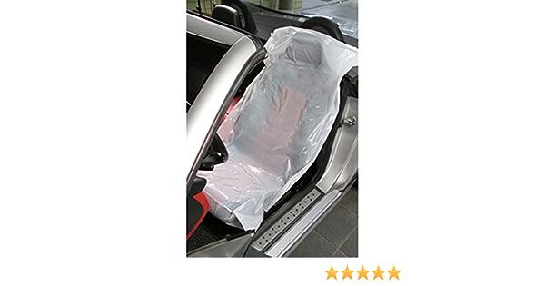 Genenric Lot de 30 housses de si/ège universelles jetables en plastique pour voiture