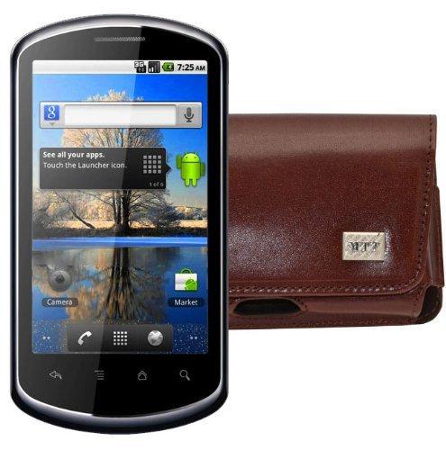 Original MTT Quertasche fuer / Huawei U8800 IDEOS X5 / Horizontal Tasche Ledertasche Handytasche Etui mit Clip und Sicherheitsschlaufe* in Braun