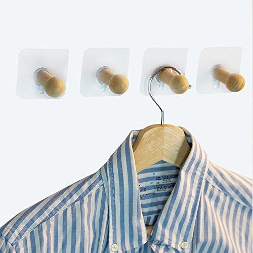 Holz Klebehaken Traceless Hat Kleiderbügel ohne Bohren Loch (Schöne Halloween-nägel)