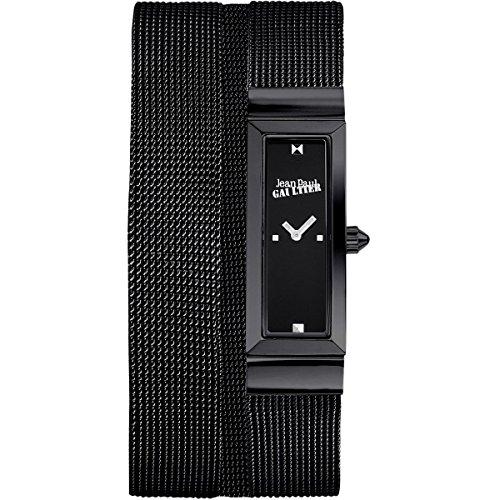 Jean Paul Gaultier Damen-Armbanduhr - Maschen - PVD-Stahl - Mesh-Armband schwarz - 33 x 13,5 mm - 8503905