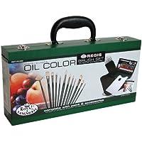 Royal & Langnickel RSET-OIL2000 - Malkasten aus Holz mit Pinsel Set und Ölfarben