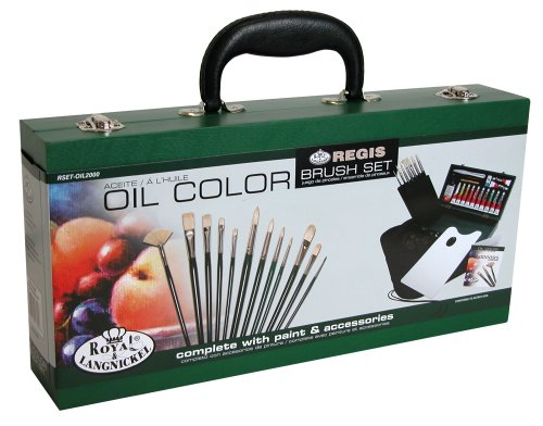 Royal & Langnickel Oil Painting Wooden Box Brush Set