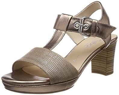 Gabor Shoes Gabor Fashion, Sandales Bride Cheville Femme, Noir (Schwarz), 38.5 EU