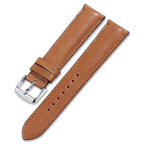 7 Farben Uhrenarmband echtem Kalbsleder Leder iStrap Watch Band Quick Release Lederarmband Ersatz-Watch Armband mit Edelstahl Metall Schließe 18 mm 19 mm 20 mm 21 mm 22 mm (Smart Watch Leder Band)