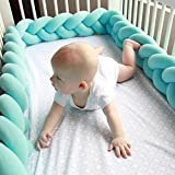 Chinatera Baby Boy's Braided Knot Bumper Crib Plush Cusion Bedding Safety Fence Bumpers