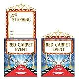 Creative la conversión de 8Count emergente Hollywood Luces invitación, Azul/Rojo/Blanco/Oro