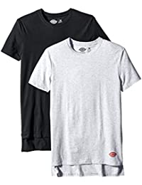 Dickies Men's 2 Pack Cotton Performance Black Grey Crew T-Shirt