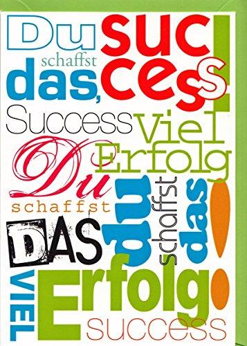 Glückwunschkarte Viel Erfolg Du schaffst das