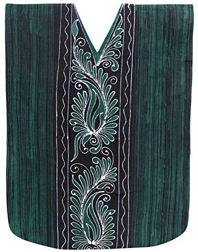 La Leela Women's Cotton Plus Cover up Lounge Sleep Night Wear Caftan Long Dress Kaftan