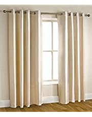 Homefab India Royal Polyester Door Curtain - 7ft, Cream (84 inch x 48 inch)