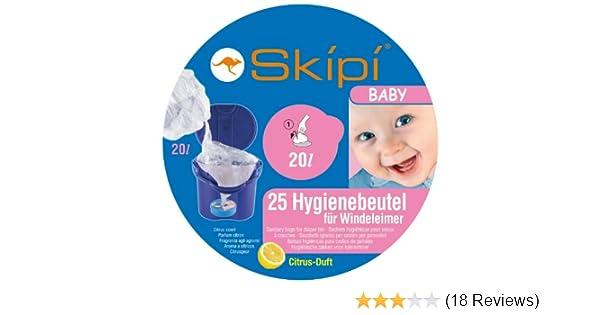 25 St/ück Skipi Hygienebeutel Baby 20 L Fassungsverm/ögen