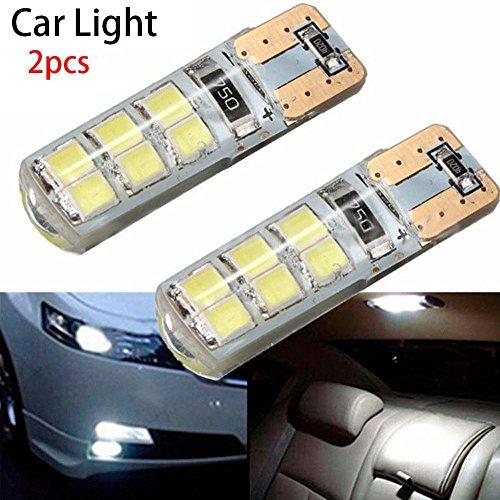 Zhuotop 2 pcs T10 COB 2835 SMD clignotant Feu de voiture CANBUS Super Bright licence ampoule 194 W5 W