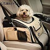 Yshen Housse de Siège Pet Car Car Dog Carriers Cat Voyage Seat Safe Sac de Transport Respirant Fil Net Portable Sac À Dos pour Animaux