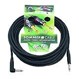 Sommer 059660 Câble mono Jack 6,3 mm 1 x 90° 10 m Noir