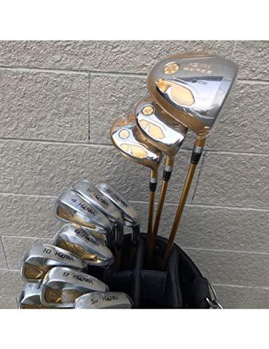 HDPP Golfschläger Herren Golfschläger S-05 Golf Kompletter Schlägersatz Driver + 3/5 Fairway Holz ++ Eisen + Putter Graphit Golfschaftabdeckung -
