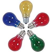 Naeve Leuchten 5er de incandescencia, E27/25 W, 2 x rojo, 1 x azul, 1 x Amarillo, 1 x verde 404861